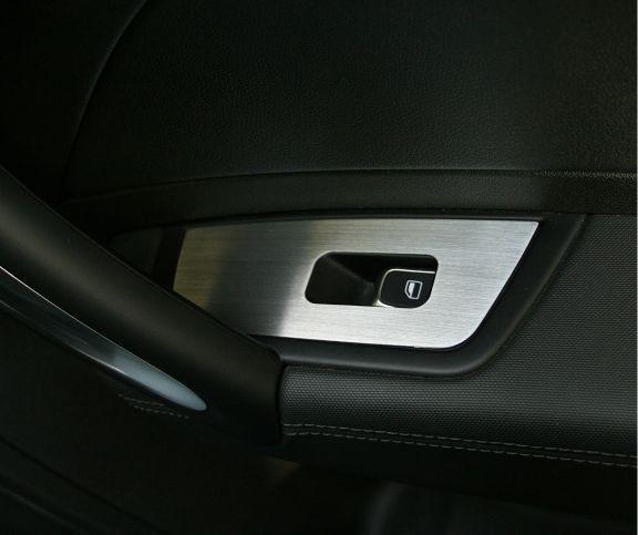 2 Aluminium Zierrahmen für Fensterheber vorne (coupe)