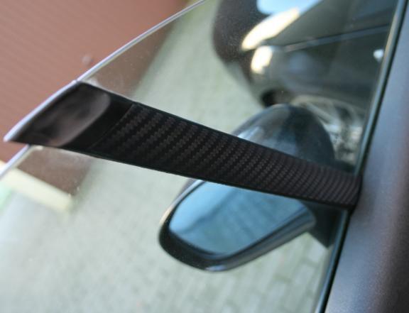 Beschichtung Carbonoptik für die Fensterstreben