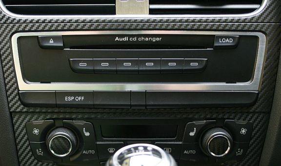 1 Aluminium Zierrahmen CD-Wechsler oder Multimediaschacht