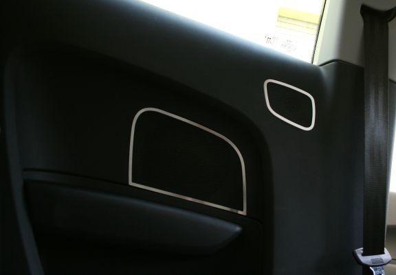 4 Aluminium Zierrahmen für Lautsprecher hinten