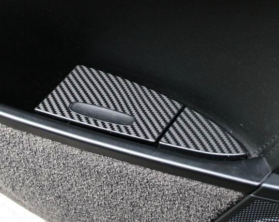 Carbondekor Aschenbecher hinten 4teilig