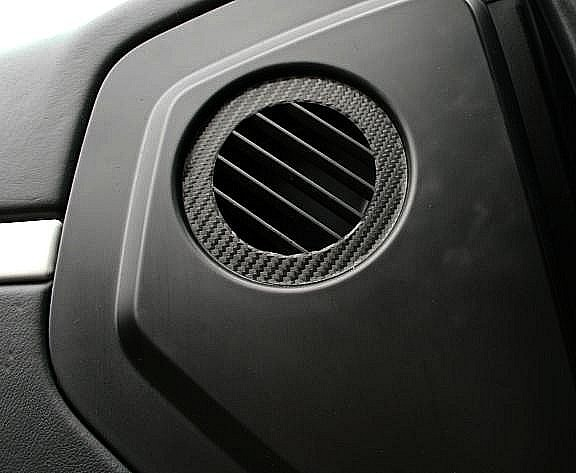 Carbondekor Luftdurchführung Türe