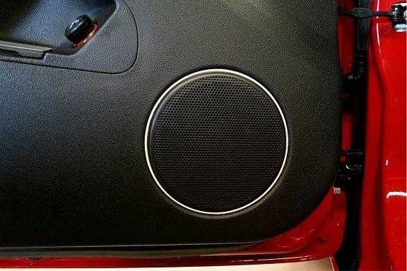 2 Zierringe Lautsprecher Türe